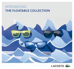 ¡Lacoste lanza el primer modelo de gafas de solflotantes!