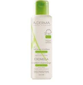 Exomega Gel Limpiador Emoliente 2 en 1 cuerpo y cabello deA-Derma