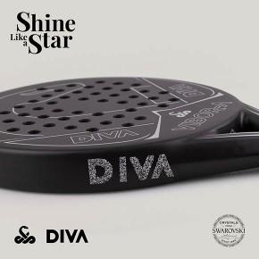VIBOR-A añade el brillo de los cristales de SWAROVSKI  a su nueva pala de pádel'DIVA'