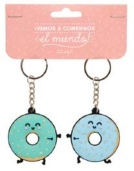 "Set de 2 llaveros ""Vamos a comernos el mundo"" de Mr. Wonderful P.V.P: 14€"
