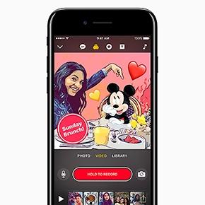 Apple actualiza la app Clips, con personajes de Disney yPixar