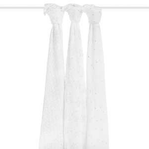 classic swaddle 3 pack metallic silver deco